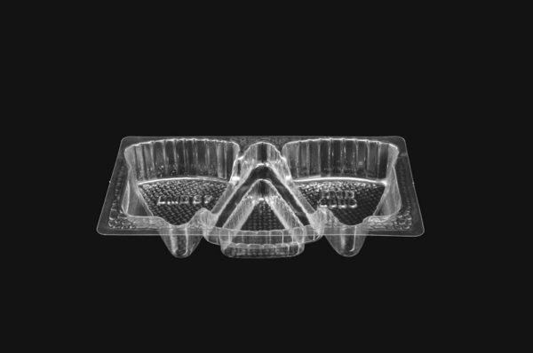 DMD 37 - 3 Cavity Petticoat Tail Tray