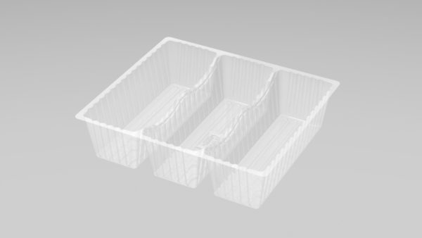 DMD 97 - 3 Cavity Deep Éclair Tray