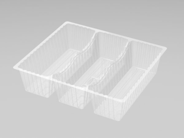 DMD 97 - 3 Cavity Deep Éclair Tray