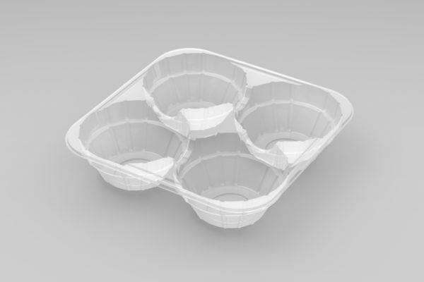 11085 - 4 Cavity Foil Tart Tray