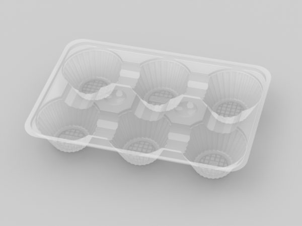 11095 - 6 Cavity Custard Tarts Tray