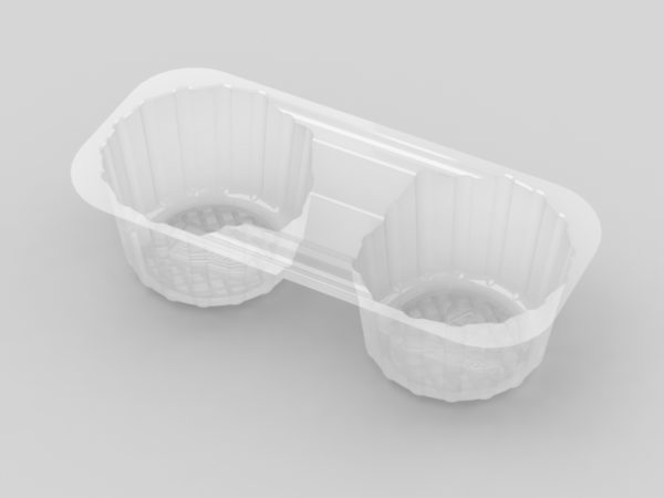 11128 - Small 2 Cavity Biscuit Tray