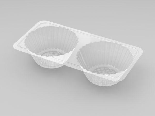11138 - 2 Cavity Tart Tray