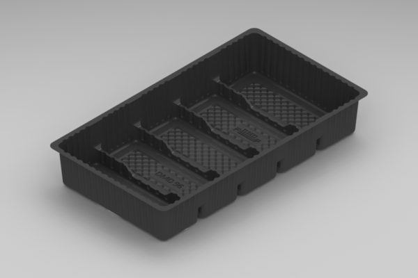DMD 896 - 5 Cavity Slice Tray - Black